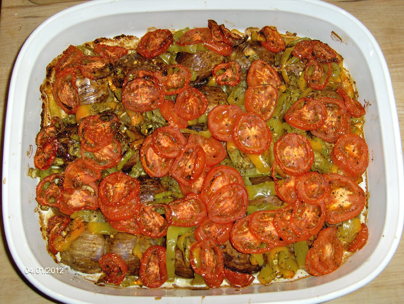 Eggplant:pepper:tomato dish3.JPG