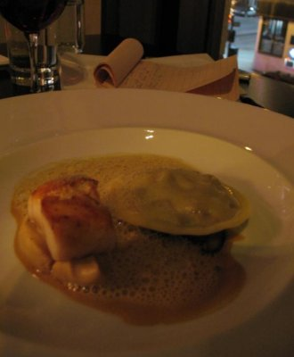 RESTAURANT NEWTOWN, MONTREAL - Black cod, beef cheek ravioli, cauliflower, oysters mushrooms, Hazelnut.jpg
