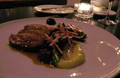 RESTAURANT NEWTOWN, MONTREAL - Roasted duck magret, Jerusalem artichokes, beets and black trumpets.jpg
