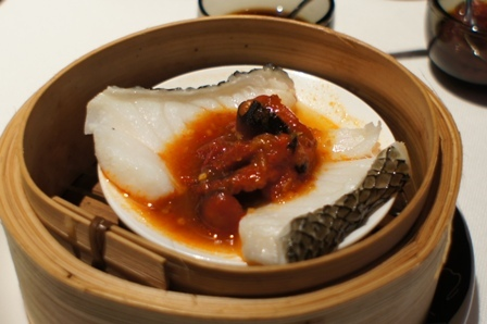 The China House - Steamed cod with squid and Shanghai chilli paste.JPG