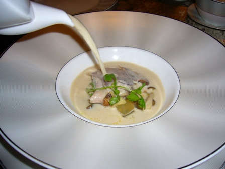 Sra Bua - Quail in coconut milk with chanterelle and crisp skin.JPG