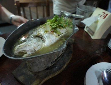 Lek Seafood - Poached Seabass in lime.JPG