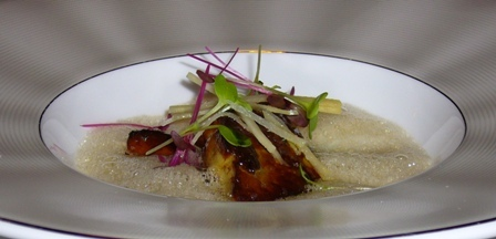 Sra Bua - Foie Gras with Plum Wine and Tamarind Pear Chutney.JPG