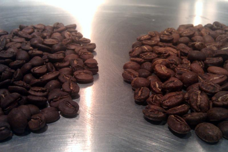 2nd roast brazilian left 1st roast colombian right (small).jpg