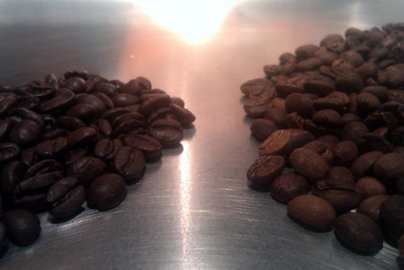 first roast (right) vs 8&#39;0c colombian (left).jpg