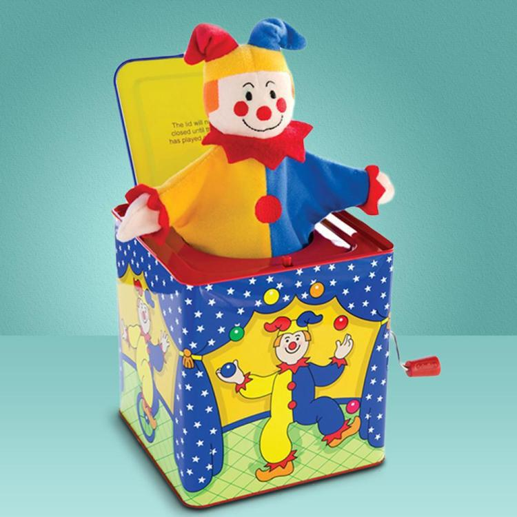 Jester Jack-in-the-Box Wind-up Toy - - Schylling - Yellow Octopus
