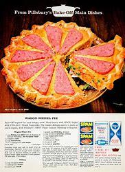 Image result for vintage ad spam wagon wheel pie