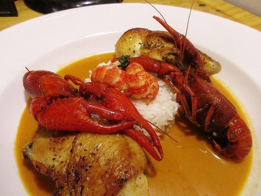 Chicken with Crayfish.JPG