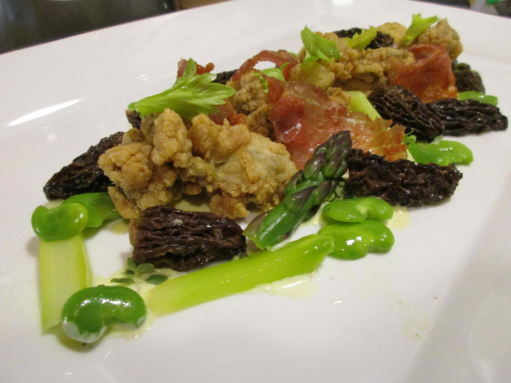 Asparagus with Fried Oysters.JPG