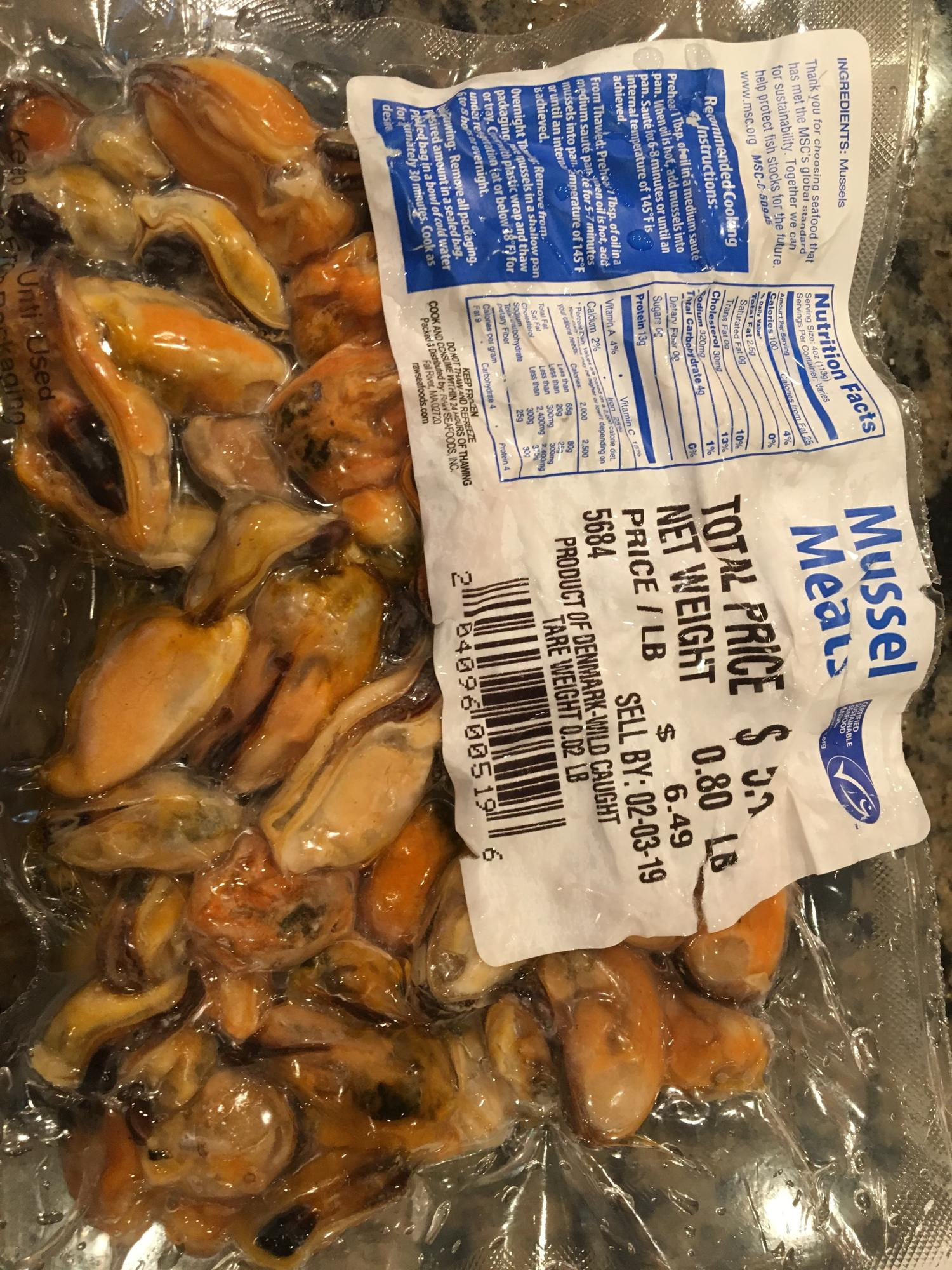 Frozen mussels, how to best use them