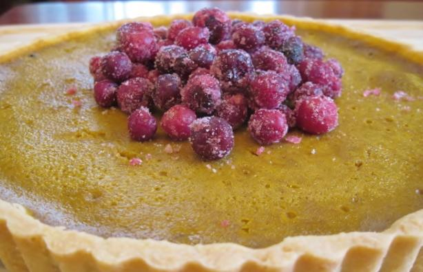 Pumpkin Tart with Candied Cranberries #1.JPG