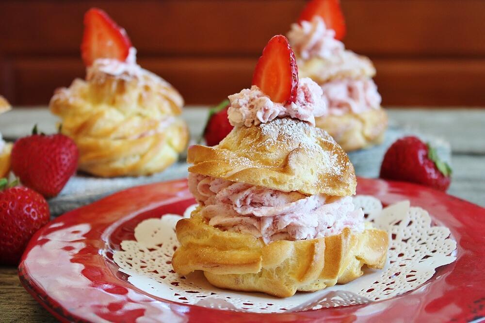 Strawberry Bavarian Choux Bun Shortcake.JPG