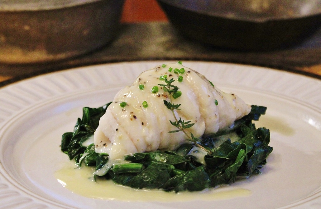 Steamed Sole with Spinach.JPG