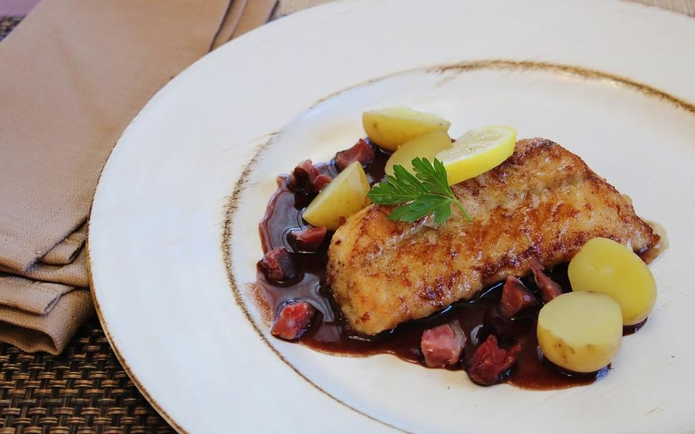 Pacific Rockfish with Ham Hock Red Wine Sauce.JPG
